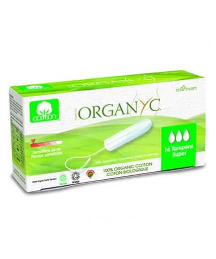 Organyc- Tampon without applicator 100% Organic Cotton 16ud - Super