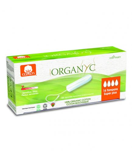 Organyc - Tampon without applicator 100% Organic Cotton 16ud - Super Plus