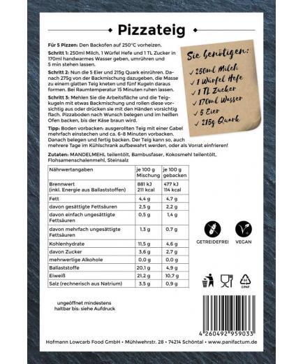 Panifactum - Gluten-free low-carb pizza dough mix 300g