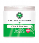 PHB Ethical Beauty - Scent Free Body Butter - Olive and Aloe Vera