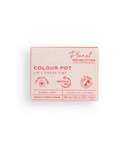 Planet Revolution - The Colour Pot Lip and cheek stain - Coral Pop