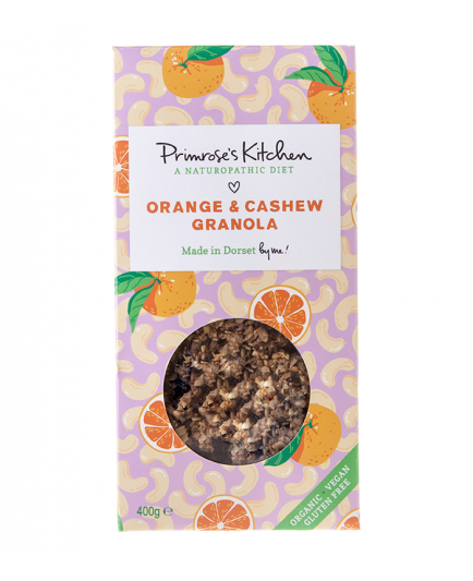 Primrose`s Kitchen - Granola eco - Orange and cashew