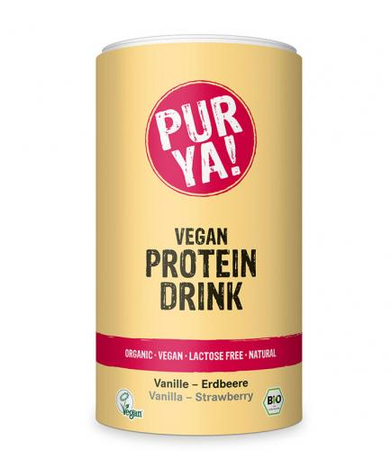 PUR YA! - Beaten of protein vegan ecological in powder - Vanilla and Strawberry