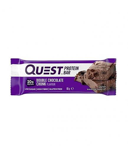 Quest - Gluten-free protein bar 60g - Double chocolate with pieces