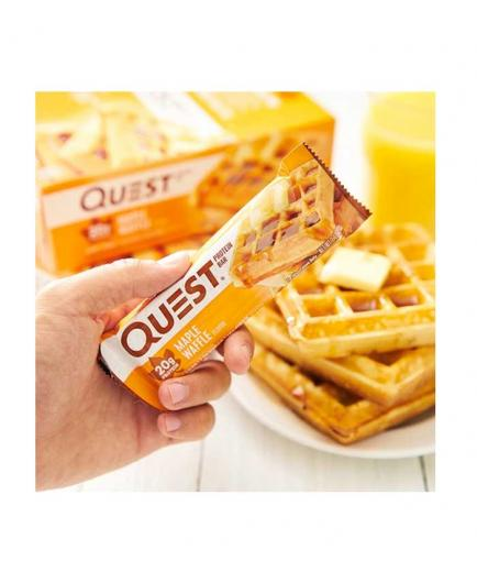 Quest - Gluten-free protein bar 60g - Waffle with maple syrup