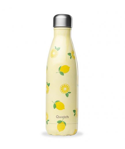 Qwetch - Isothermal Stainless Steel Bottle 500ml - Lemon