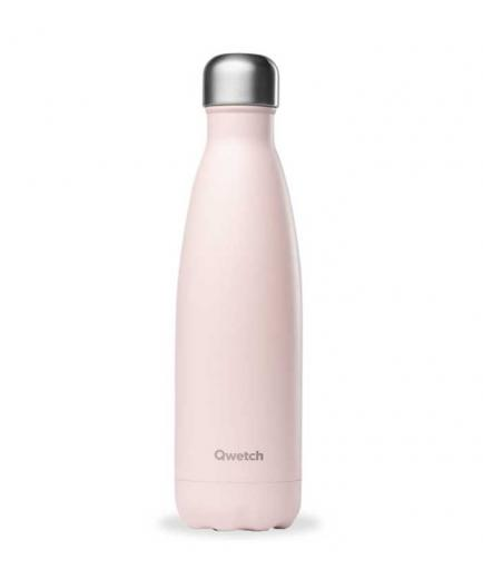 Qwetch - Stainless Steel Isothermal Bottle 500ml - Pastel Pink