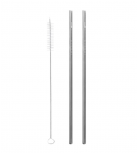 Qwetch - Straight stainless steel straws
