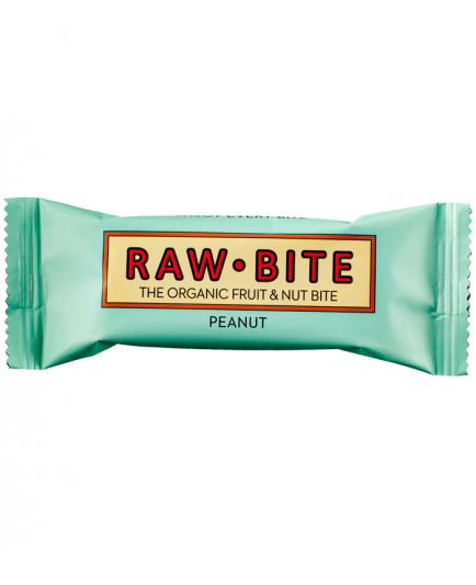 RAW-Bite - Barrita energética natural  - Cacahuete