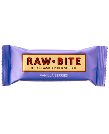 RAW-Bite - Barrita energética natural - Frutos del bosque y Vainilla
