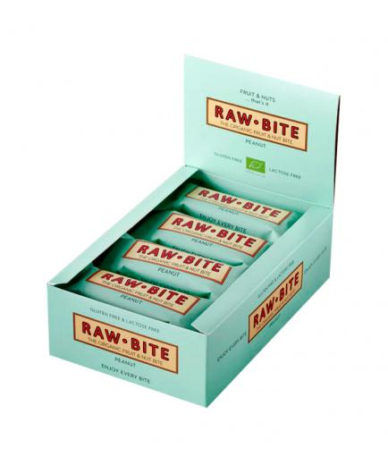 RAWBITE –  Box of 12 natural energy bars – Peanut