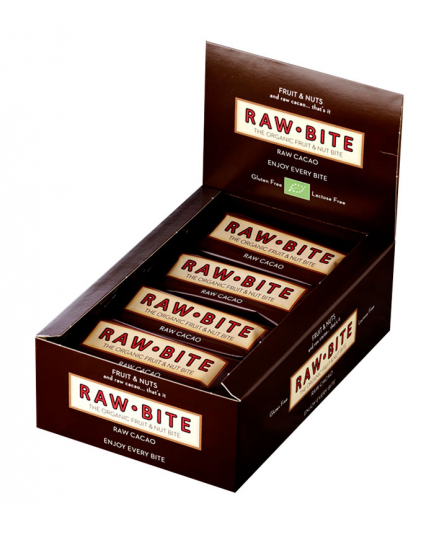 RAW-Bite –  Box of 12 natural energy bars – Cacao