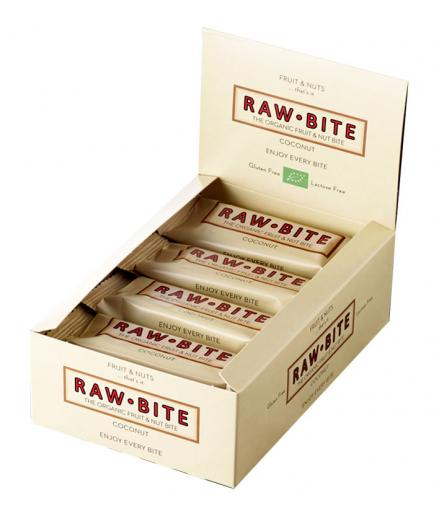 RAWBITE –  Box of 12 natural energy bars – Coconut