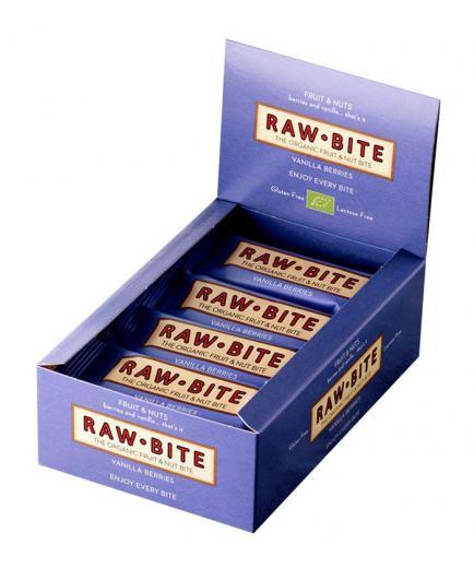 RAWBITE –  Box of 12 natural energy bars – Berries and Vanilla
