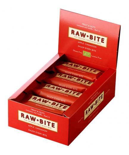 RAWBITE –  Box of 12 natural energy bars –Apple Cinnamon