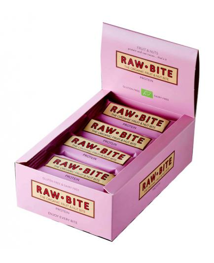 RAWBITE –  Box of 12 natural energy bars – Proteins
