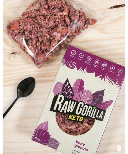Raw Gorilla - Organic Keto Granola with Raspberry 250g