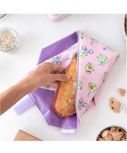 Roll eat - *Mr Wonderful* - Reusable sandwich holder Boc n Roll - Avocado