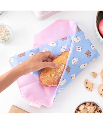 Roll eat - *Mr Wonderful* - Reusable sandwich holder Boc n Roll - Chocolate