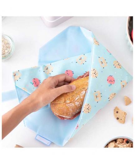Roll eat - *Mr Wonderful* - Reusable sandwich holder Boc n Roll - Apple
