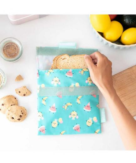 Roll eat - *Mr Wonderful*  - Reusable snack holder Snack n Roll - Fruits