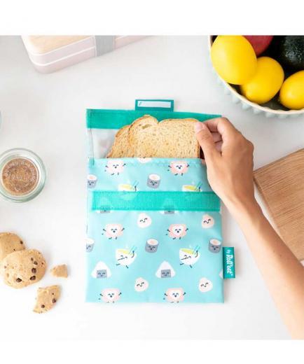 Roll eat - *Mr Wonderful* - Reusable snack holder Snack n Roll - Sushi