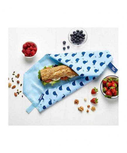 Roll eat - Reusable sandwich holder Boc n Roll - Whale