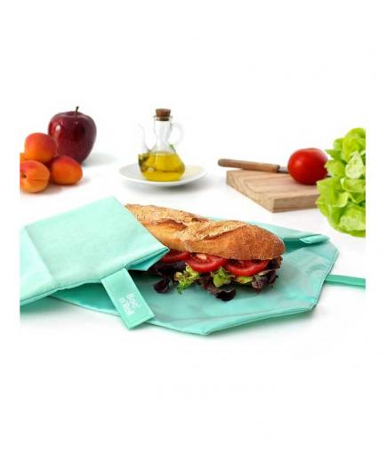 Roll eat - Reusable sandwich holder Boc n Roll - Green