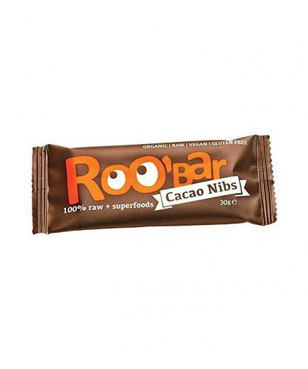 Roobar - Organic gluten-free bar 30g - Cocoa nibs