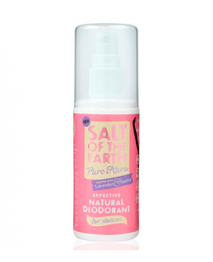 Salt of the Earth - Desodorante Spray para mujer Pure Aura - Lavanda y Vainilla