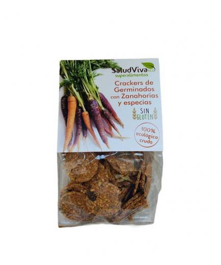 SaludViva Superalimentos - Organic Sprouts Crackers with Carrots and spices 80g