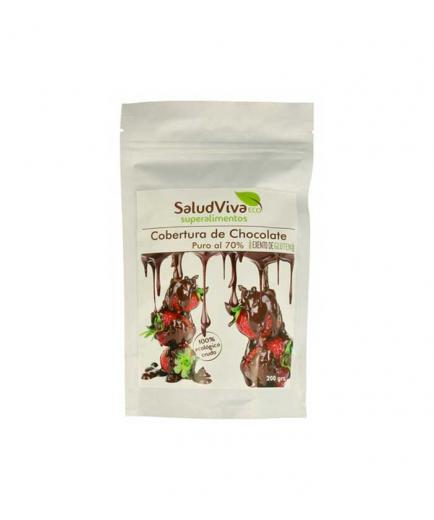 SaludViva Superalimentos - Gluten-free chocolate coverage 200g
