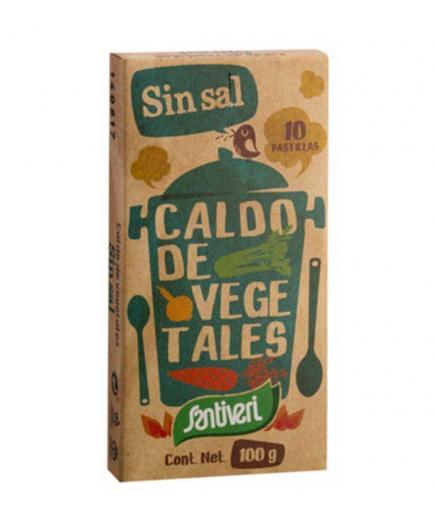 Santiveri - Vegetable broth 10 tablets - Without salt