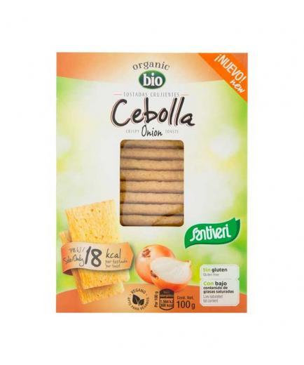 Santiveri - Organic Bio gluten-free crispy toasts 100g - Onion