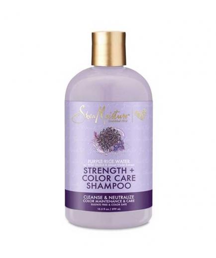Shea Moisture - Color Protection Shampoo Strength + Color Care - Purple Rice Water