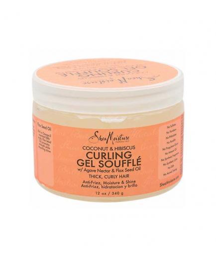 Shea Moisture - Curl Enhancer Gel Curling Gel Soufflé - Coconut and Hibiscus