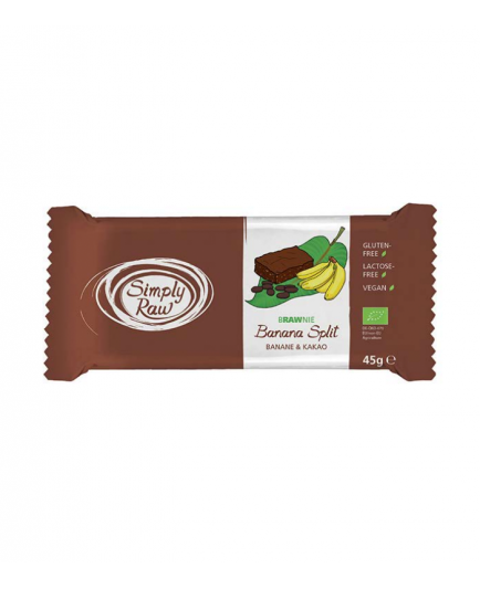 Simply Raw - Barrita de Verduras Brownies - Plátano y cacao
