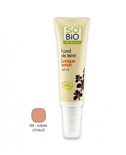 SO'BiO étic - Base de maquillaje de larga duración - 04 Sable Chaud