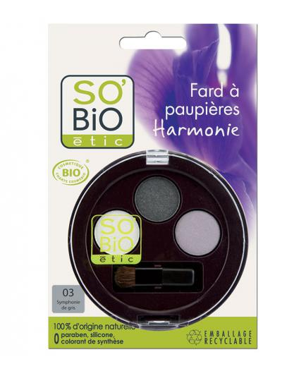 SO'BiO étic - Eye Shadow Trio - 03 Gris