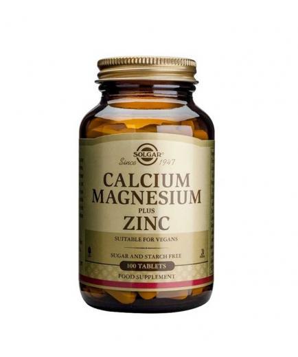 SOLGAR - Food supplement - Calcium and Magnesium with Zinc