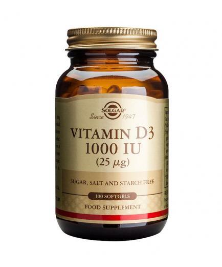 SOLGAR - Food Supplement - Vitamin D3 1000 IU