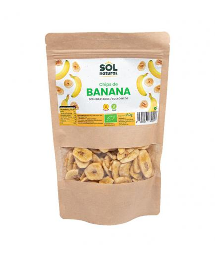 Solnatural - Bio dehydrated banana chips 150g