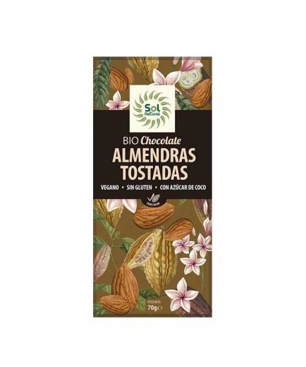 Solnatural - Organic Vegan Chocolate with Toasted Almonds 70g