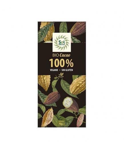 Solnatural - 100% organic cocoa pure chocolate 70g