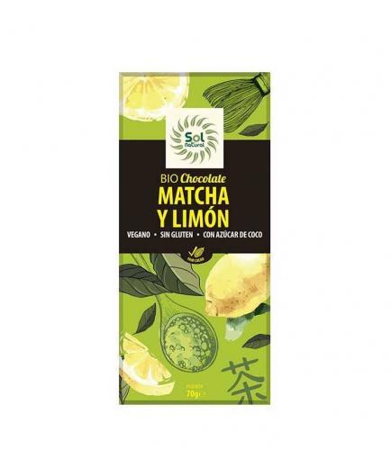 Solnatural - Vegan Chocolate with Matcha and Lemon Bio 70g