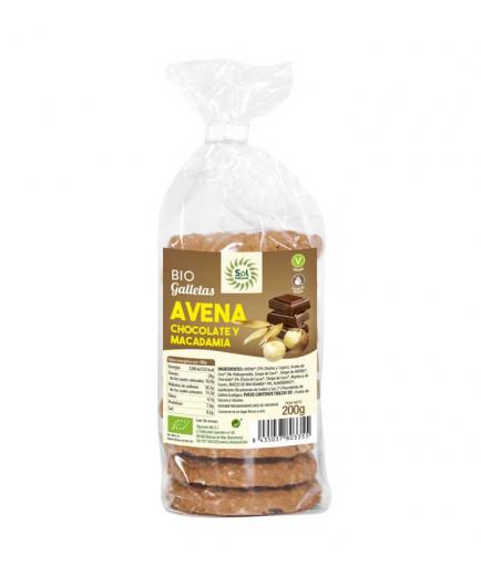 Solnatural - Bio Biscuits 200g - Oats, chocolate and macadamia