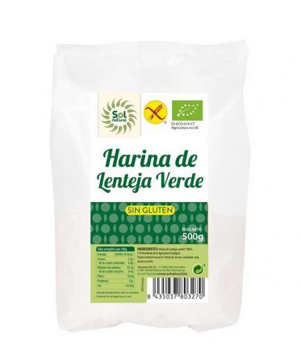 Solnatural - Bio gluten-free green lentil flour 500g