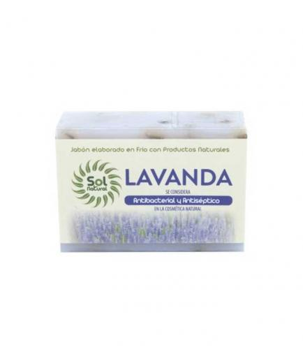 Solnatural - Natural solid soap 100g - Lavender antibacterial and antiseptic
