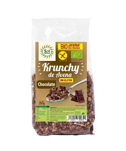 Solnatural - Organic gluten-free oat Krunchy 350g - Chocolate