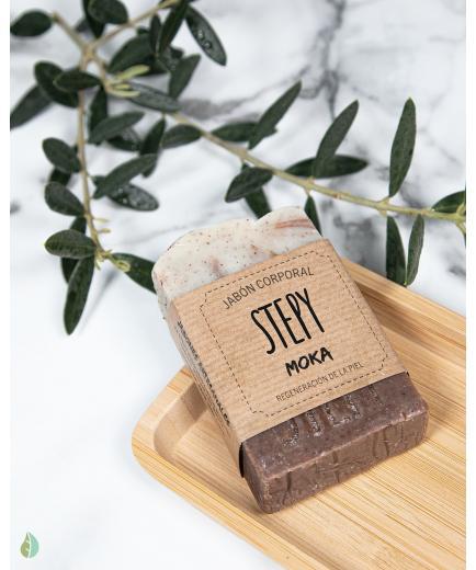 Stepy - Solid body soap for skin regeneration 100g - Moka